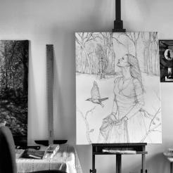 IMG_3016 painting in art studio b&w