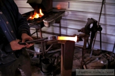 IMG_4575 Hot Railroad Spike to Forge into Knife