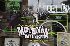 IMG_4562 My Reflection in Mothman Museum Window
